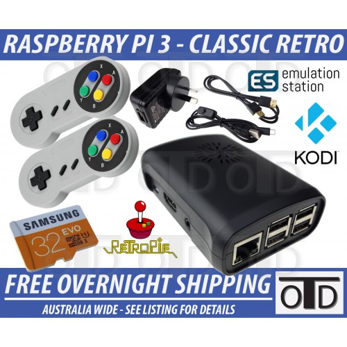 Raspberry Pi 3 RetroPie Classic Game Console