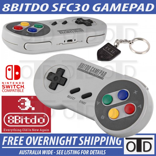 8Bitdo SFC30 SNES Style Plug and Play Bluetooth Zero Delay Controller