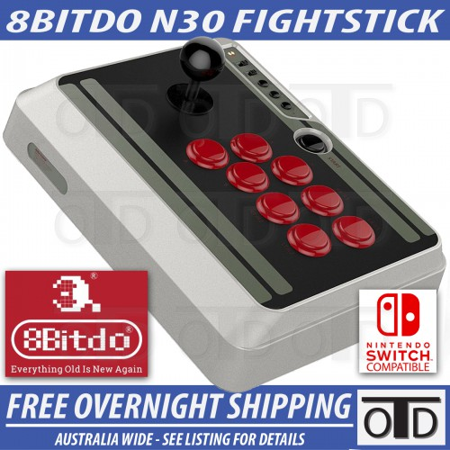 8Bitdo N30 PRO Arcade Plug and Play Bluetooth Zero Delay Fightstick Controller